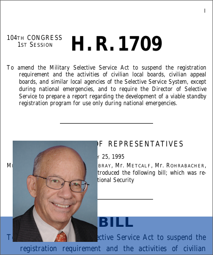 Selective Service Standby Act Of 1995 1995 104th Congress H R 1709 Govtrack Us