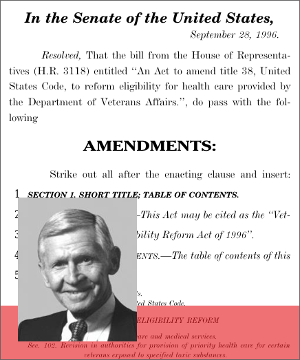 Veterans' Health Care Eligibility Reform Act of 1996 (1996