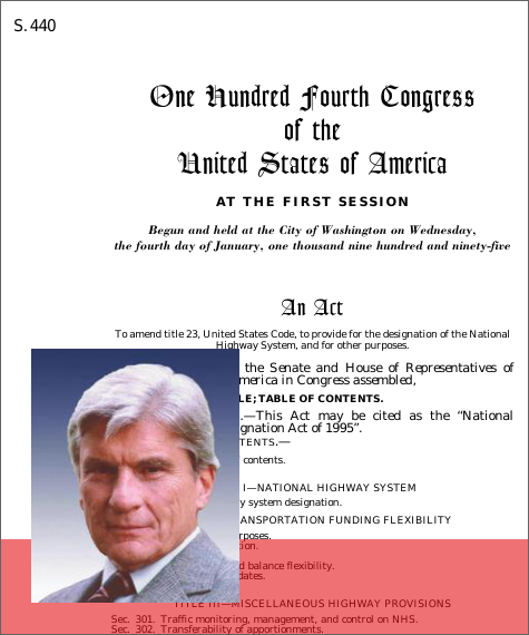 National Highway System Designation Act Of 1995 1995 104th Congress S 440 Govtrack Us
