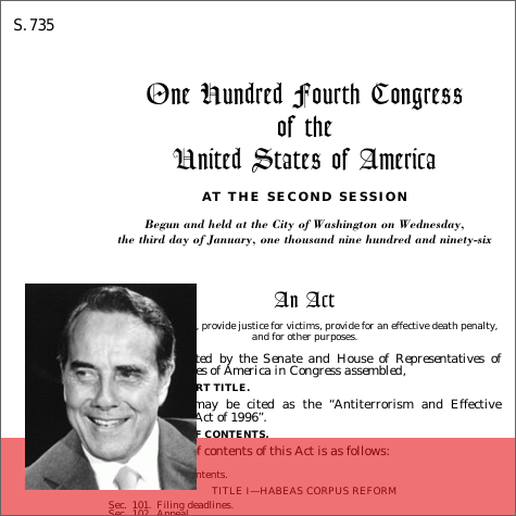 us congress has upheld the anti terrorism act in 1996 International terrorism: threat, policy, and response united states launched the war against an encouraging sign in the anti-terrorism struggle has been the.