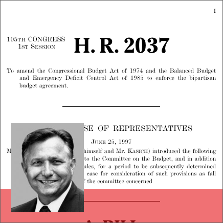 Budget Enforcement Act Of 1997 1997 105th Congress Hr 2037