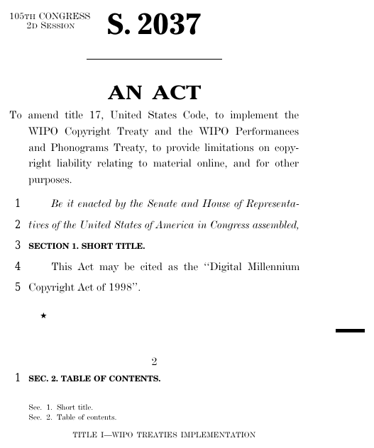 us digital millennium copyright act 1998