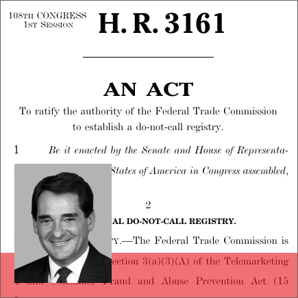 do not call implementation act Cost estimate for the bill as ordered reported by the house committee on energy and commerce on january 29, 2003.