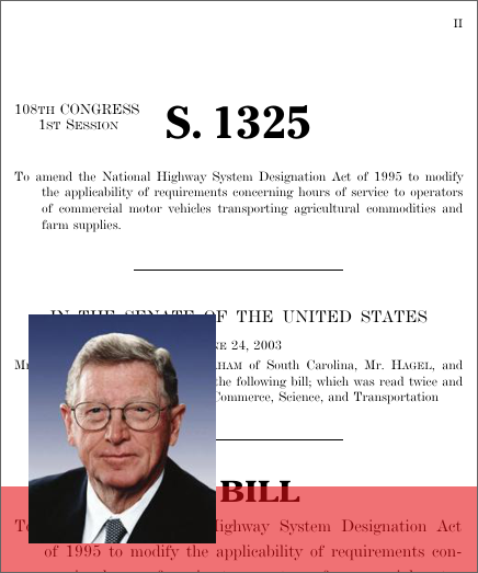 A Bill To Amend The National Highway System Designation Act Of 1995 To Modify The Applicability Of Requirements Concerning Hours Of Service To Operators Of Commercial Motor Vehicles Transporting Agricultural Commodities And