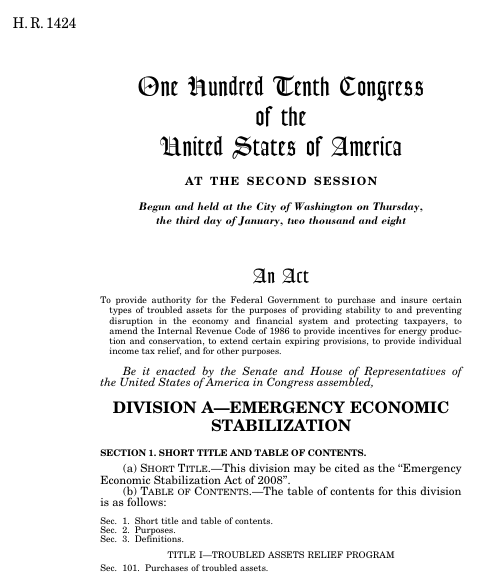 emergency economic stabilization act of 2008 Providing for the consideration of the senate amendment to hr 3997, emergency economic stabilization act of 2008 provides for consideration of the senate amendment.