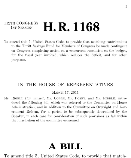 Lead by example act 2011 112th congress hr 1168 govtrack thumbnail of bill text pronofoot35fo Choice Image