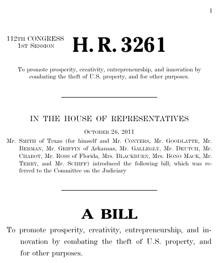 Stop online piracy act 2011 112th congress hr 3261 govtrack thumbnail of bill text pronofoot35fo Choice Image