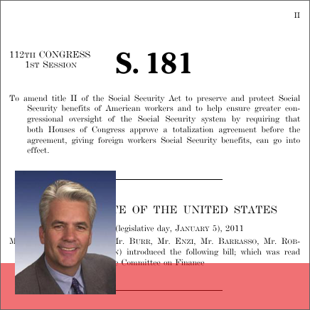 Social security totalization agreement reform act of 2011 2011 social security totalization agreement reform act of 2011 2011 112th congress s 181 govtrack platinumwayz