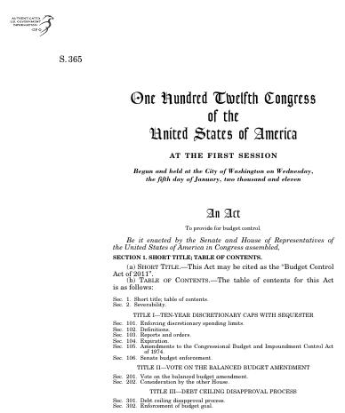 congress budget bill essay