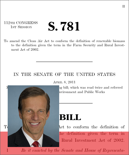 A bill to amend the Clean Air Act to conform the definition