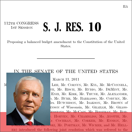the issue of the us national debt and the importance of a balanced budget amendment
