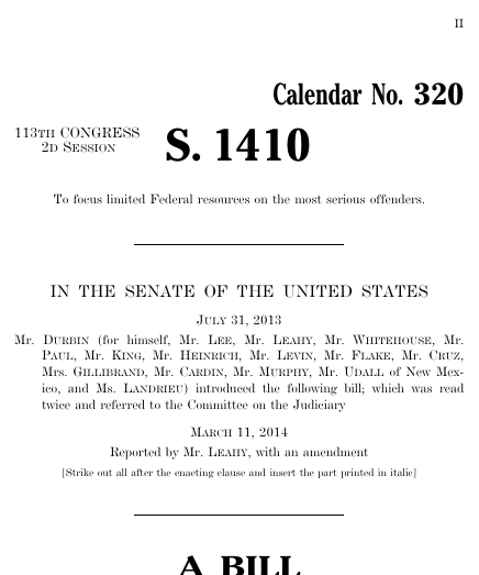 Smarter sentencing act of 2014 2014 113th congress s 1410 thumbnail of bill text altavistaventures Gallery