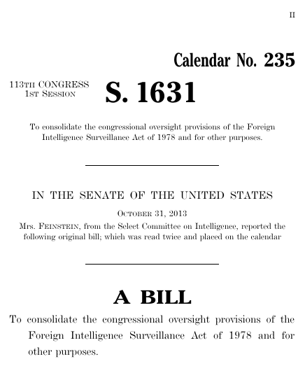 Fisa improvements act of 2013 2013 113th congress s 1631 thumbnail of bill text pronofoot35fo Choice Image