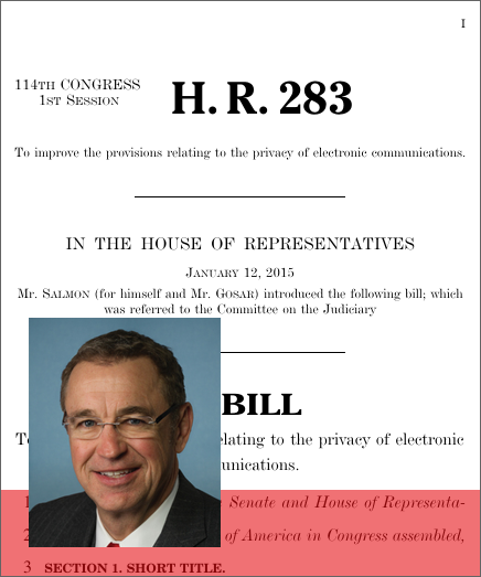 Electronic Communications Privacy Act Amendments Act of 2015 (2015; 114th Congress H.R. 283