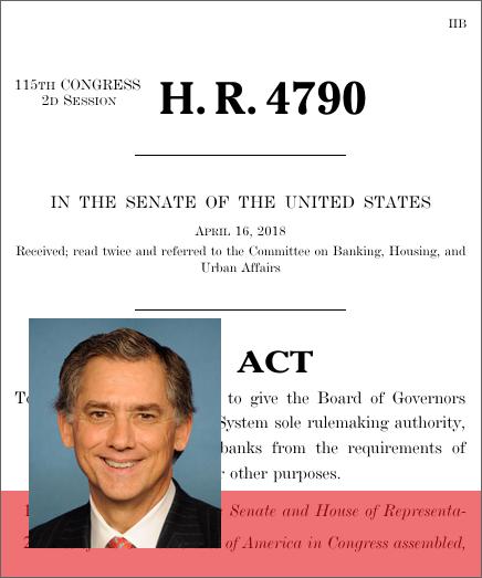 Volcker Rule Regulatory Harmonization Act (2018; 115th Congress ...