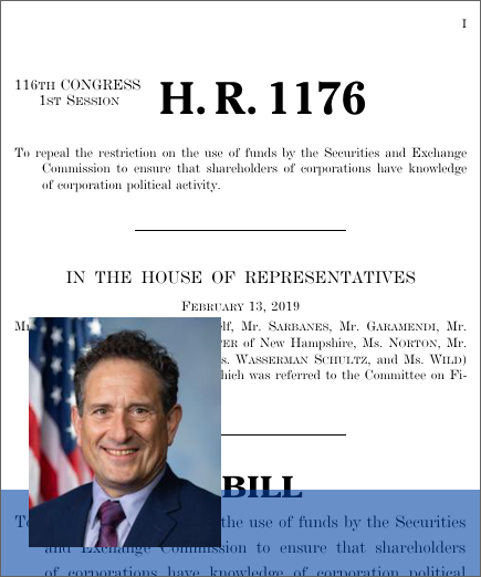 Transparency in Corporate Political Spending Act (H R  1176