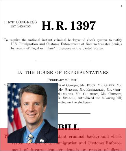 Notify ICE Act (H R  1397) - GovTrack us
