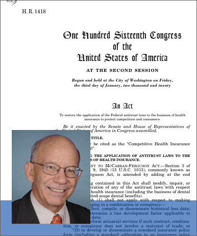 Competitive Health Insurance Reform Act of 2020 (2021; 116th Congress H.R.  1418) - GovTrack.us