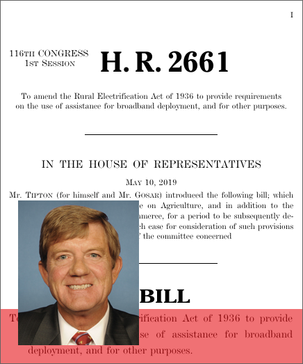 RURAL Broadband Act of 2019 (H R  2661) - GovTrack us