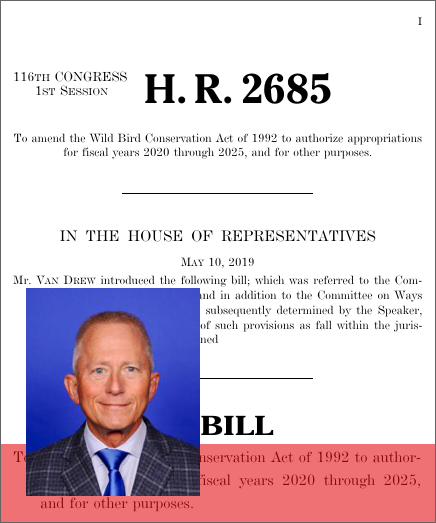 Wild Bird Conservation Reauthorization Act of 2019 (H R