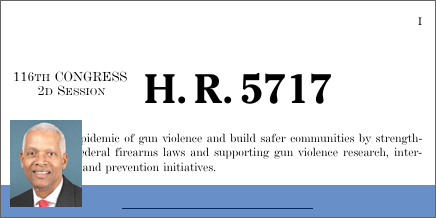 Gun Violence Prevention and Community Safety Act of 2020 (H.R. 5717)