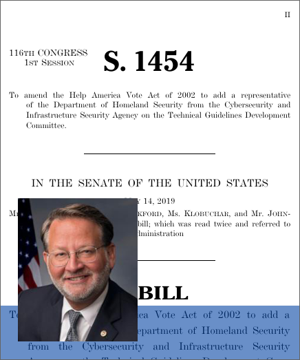 Voting System Cybersecurity Act of 2019 (S  1454) - GovTrack us