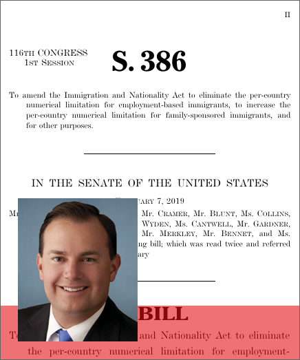 Fairness for High-Skilled Immigrants Act of 2019 (S  386