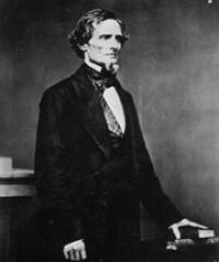Photo of Sen. Jefferson Davis [D-MS, 1857-1861]